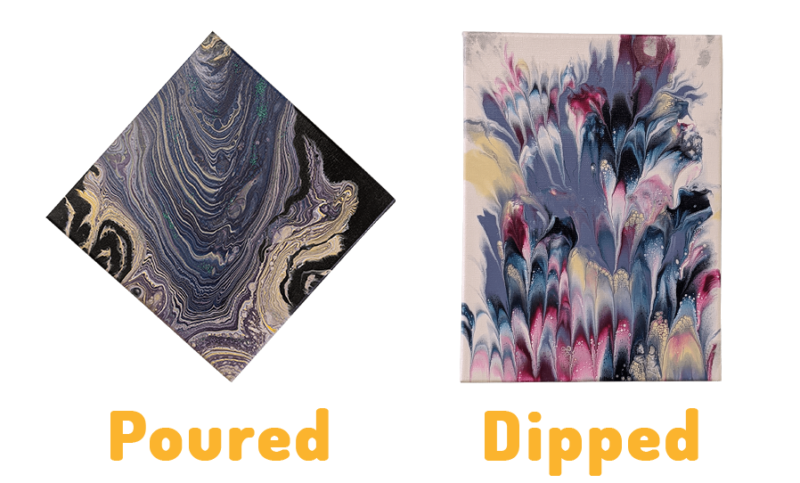 poured vs dipped